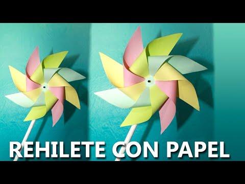 COMO HACER UN REHILETE ideas para niños | Manualidades fáciles con papel