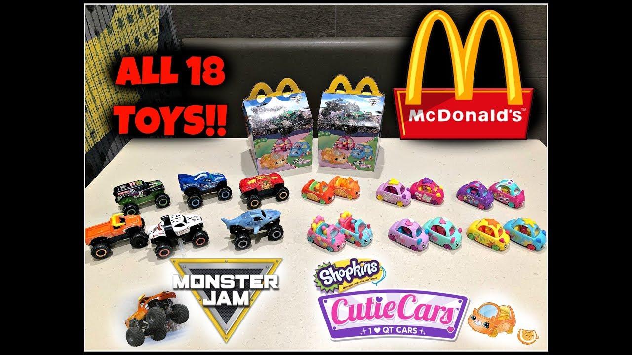 Mcdonalds Monster Jam Shopkins Cutie Cars Happy Meal