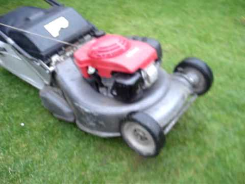 honda hrh 536 pro roller lawn mower on ebay youtube. Black Bedroom Furniture Sets. Home Design Ideas