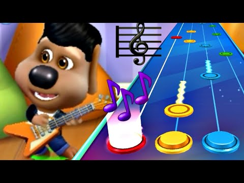 MY TALKING TOM FRIENDS MINI GAME GUITAR ACE ALL MUSIC ( ESTILO Guitar Hero & Piano Tiles ) GAMEPLAY