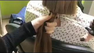 Как быстро и правильно срезать длинные волосы