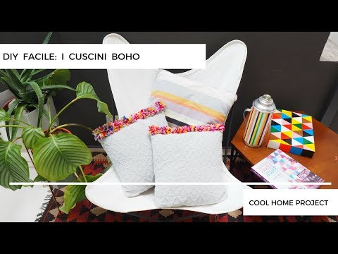 Coin Cuscini.Home Decor I Cuscini Boho Diy Diy Boho Pillows Youtube