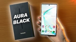 Galaxy Note 10+ | Unboxing and Setup! | Aura Black