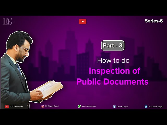 How to do inspection of Public Document.