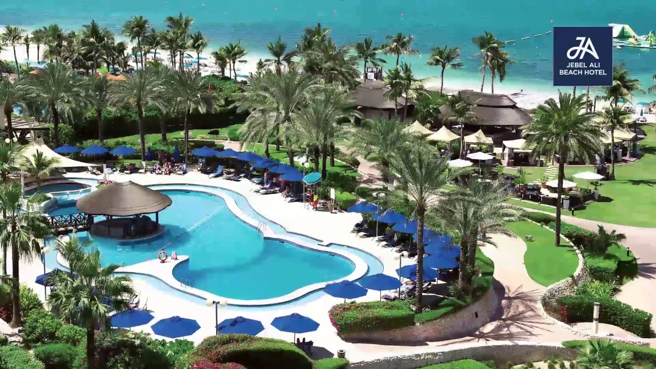 Ja Resorts Hotels Video Film Dubai Jebel Ali Beach Hotel Palm Tree Court