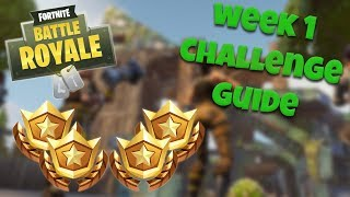 HOW TO COMPLETE ALL WEEK 1 CHALLENGES – SEASON 4 | FORTNITE BATTLE ROYALE TIPS/TUTORIALS