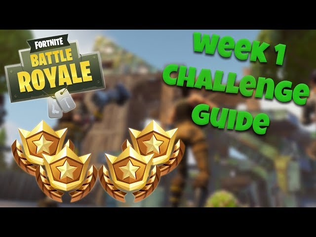 HOW TO COMPLETE ALL WEEK 1 CHALLENGES – SEASON 4   FORTNITE BATTLE ROYALE TIPS/TUTORIALS