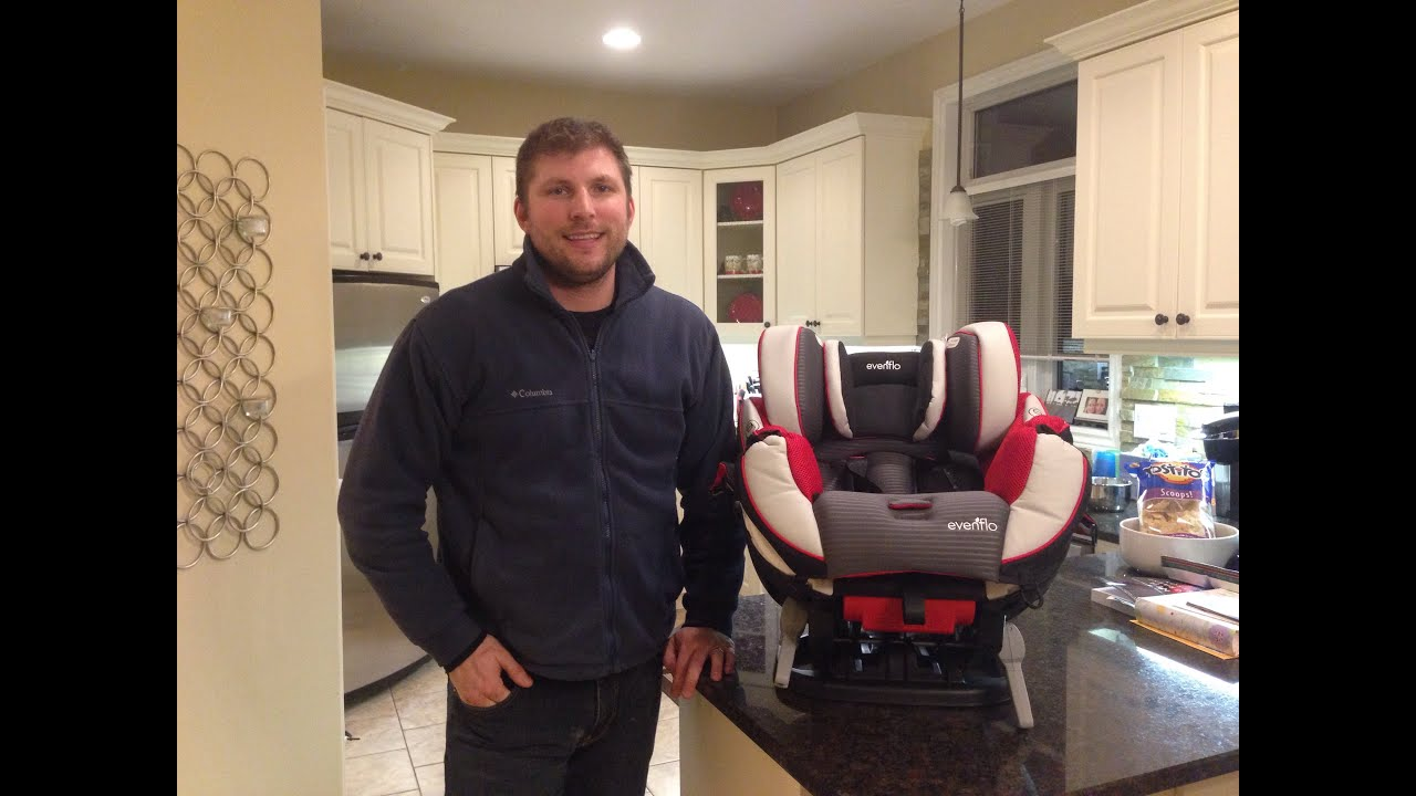 Evenflo Symphony Car Seat: Changing to Forward Facing Demo - YouTube