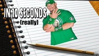 How To Draw JOHN CENA In Just 10 Seconds