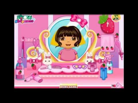 Обзор игры, Дора парикмахер, видео игра для детей