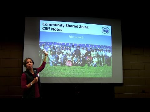 Minneapolis Community Solar Garden Workshop