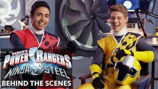 Power Rangers Ninja Steel | Meet the Cast: Red and Yellow Dance Buddies