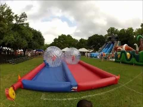 Zorb Ball Inflatable Racing Game - Dallas, TX