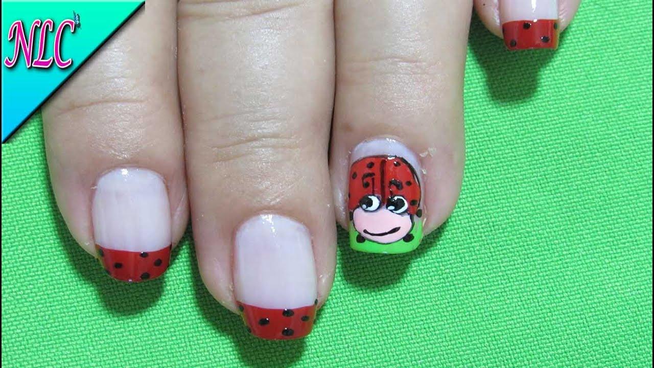 Decoracion de uñas Mariquita - Como Pintar Mariquitas - Ladybug Nail ...