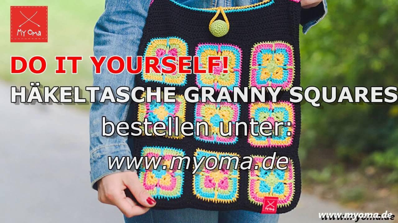 Myoma Häkelanleitung Granny Squares Für Tasche Youtube