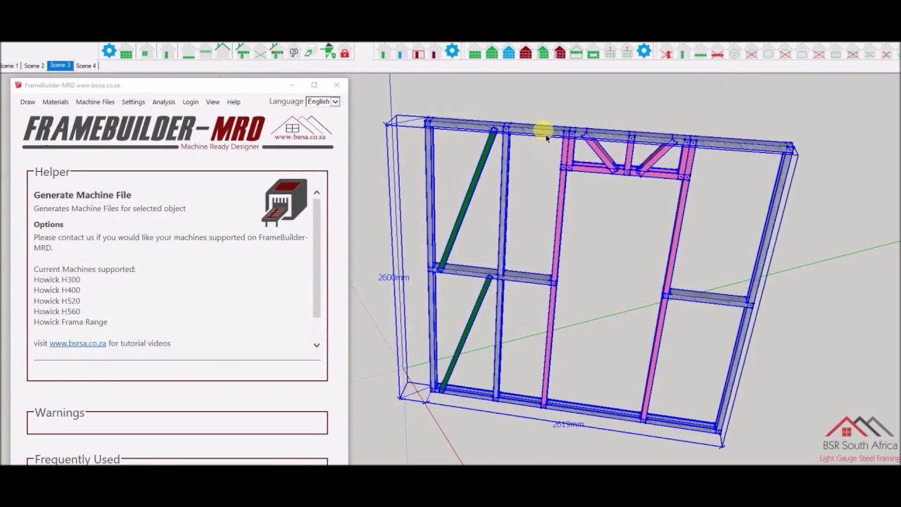FrameBuilder-MRD Howick Machine File Generation - YouTube