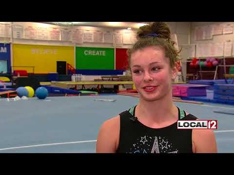 """Adriana Bustelo Local 12 Report """"Local gymnast's improbable comeback to compete at nationals"""""""