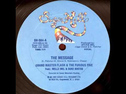 """Grandmaster Flash & The Furious Five – The Message ( Extended 12"""" Mix ) 1982"""