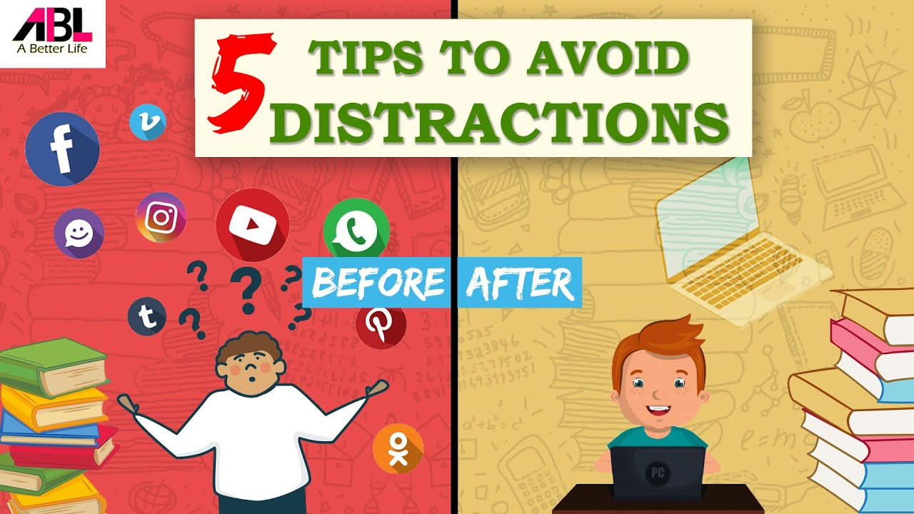 5 TIPS TO AVOID DISTRACTION | SMART TIPS TO SCORE BETTER IN EXAMS| #Abetterlife