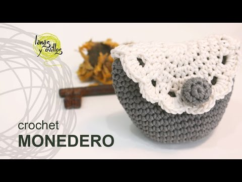 Youtubecroche : Tutorial Monedero Crochet o Ganchillo - YouTube