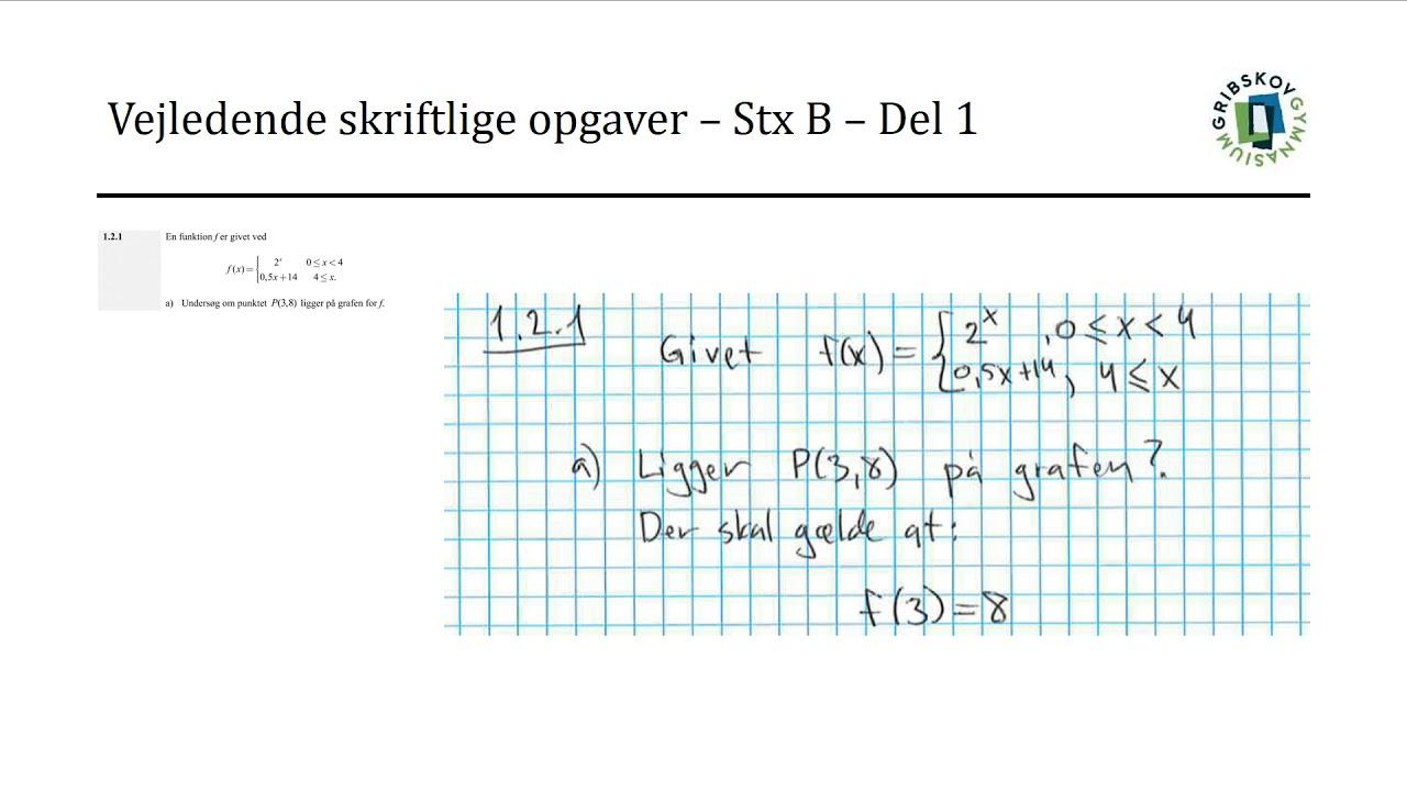 Vejledende skriftlige opgaver - STX B - 1 2 1