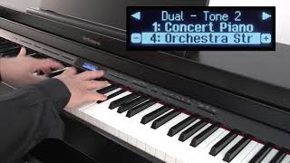 """""""Using the Dual and Split Functions"""" Roland GP / LX / HP /DP series #03"""