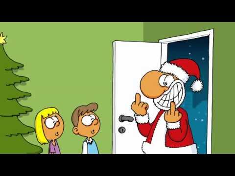 besoffener weihnachtsmann video