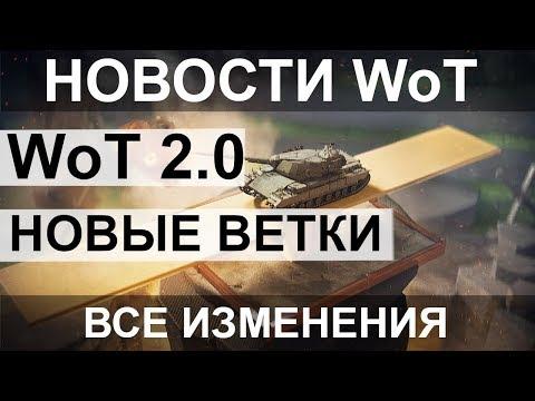 НОВОСТИ WoT: НОВЫЕ ВЕТКИ World Of Tanks 2.0 ВСЕ ИЗМЕНЕНИЯ! Баланс 3.0 (СПЕЦВЫПУСК)