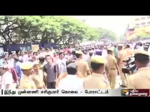 Hindu Munnai functionary murdered: Protest staged in Coimbatore