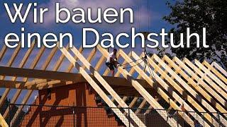 IhrZimmerermeister baut einen Dachstuhl