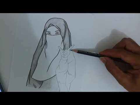 Menggambar Kartun Islami Bercadar Hijab Sar I Youtube