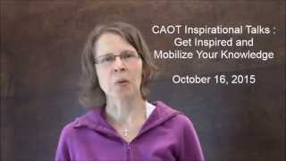 CAOT Inspiration Talks_Julie Lapointe Invites You