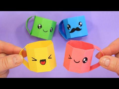 Кавайные кружки из бумаги / DIY MINI PAPER CUP
