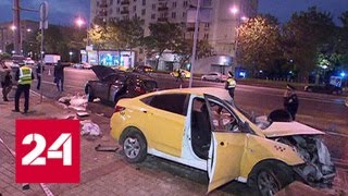 Смотреть видео ДТП на Кутузовском проспекте в Москве: один человек погиб - Россия 24 онлайн