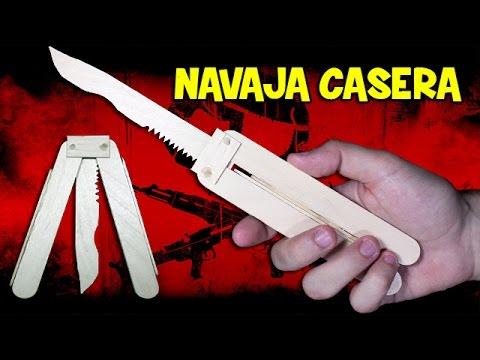 C mo hacer una navaja casera o cuchillo casero youtube - Como insonorizar una habitacion casera ...