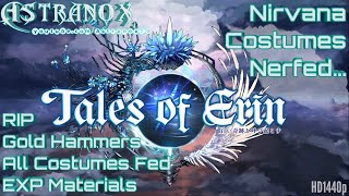 TALES OF ERIN Nirvana Costume Nerf RIP - Fixing my stats -  Tales of Erin Gameplay Review #205 Guide