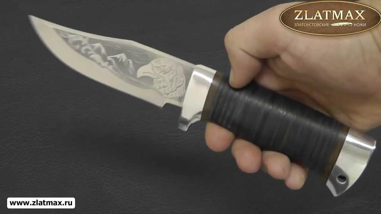 Видео Нож туристический НС-15 (40Х10С2М, Наборная кожа, Алюминий)