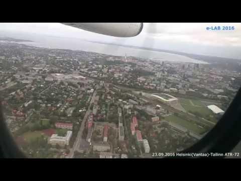 Helsinki(Vantaa)-Tallinn ATR-72 Flight 23.09.2016 (HD 1080p)