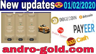 New updates earn online money | new legit site andro-gold.com  | live withdraw 01/02/2020