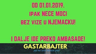 Od 01.01.2019 bez radne vize u Njemacku!
