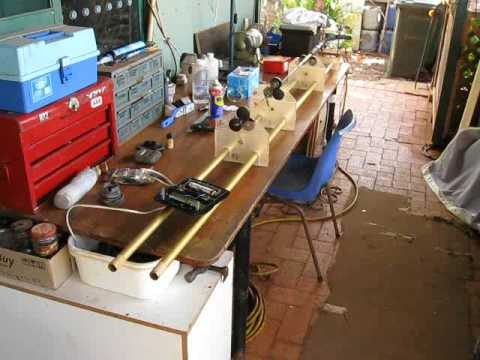 Home Made Fishing Rod Building Lathe - Drying Mode