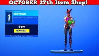 Fortnite Item Shop (October 27) | *NEW* Uncommon Skin & *NEW* Emote!