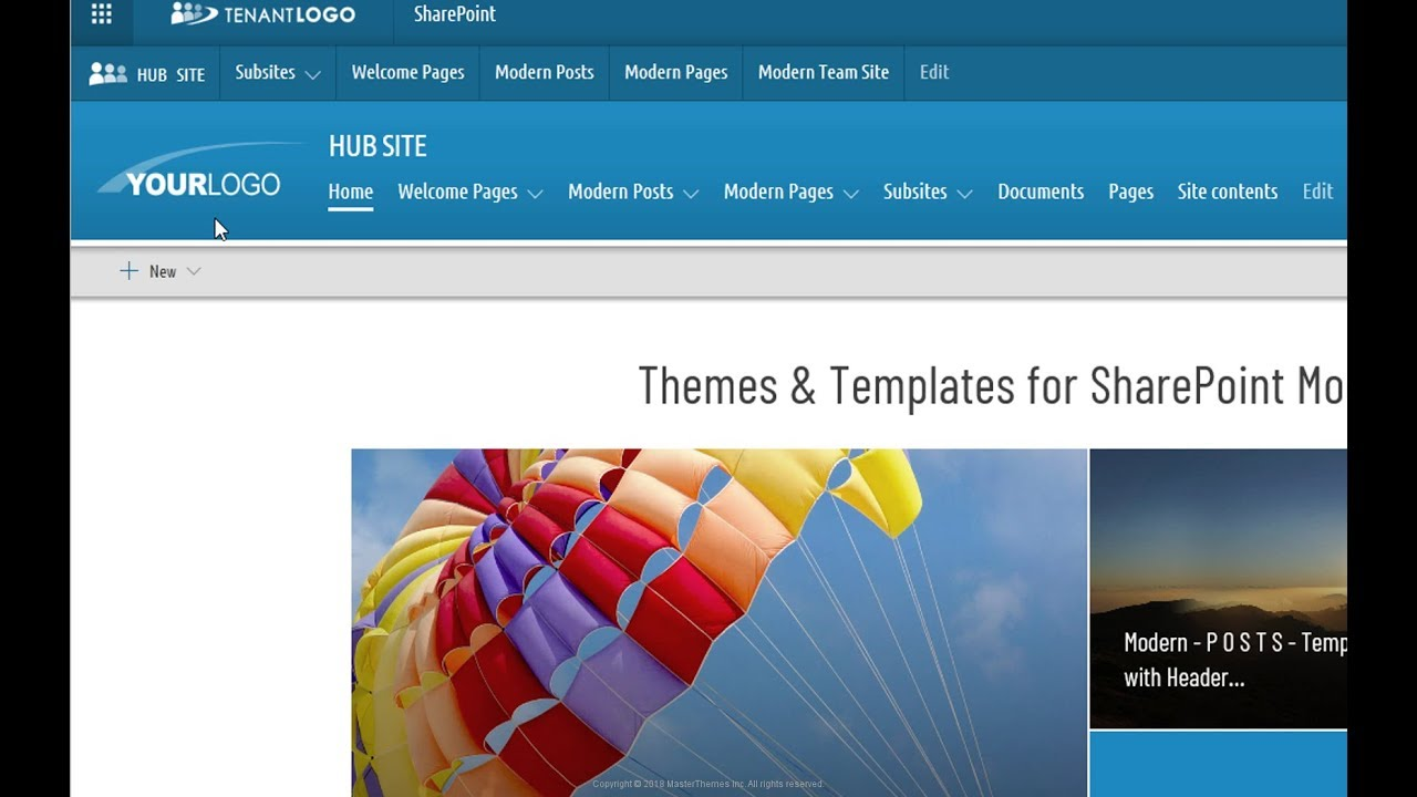 Modern Templates and Themes for SharePoint Online Communication Sites and  Modern Team Sites
