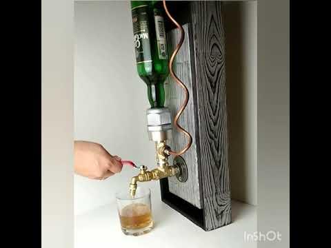 wall liquor dispenser.  Alcohol dispenser.  Whiskey dispenser.