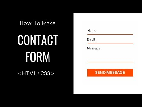 How To Make A Contact Form Using HTML And CSS - Easy Tutorials