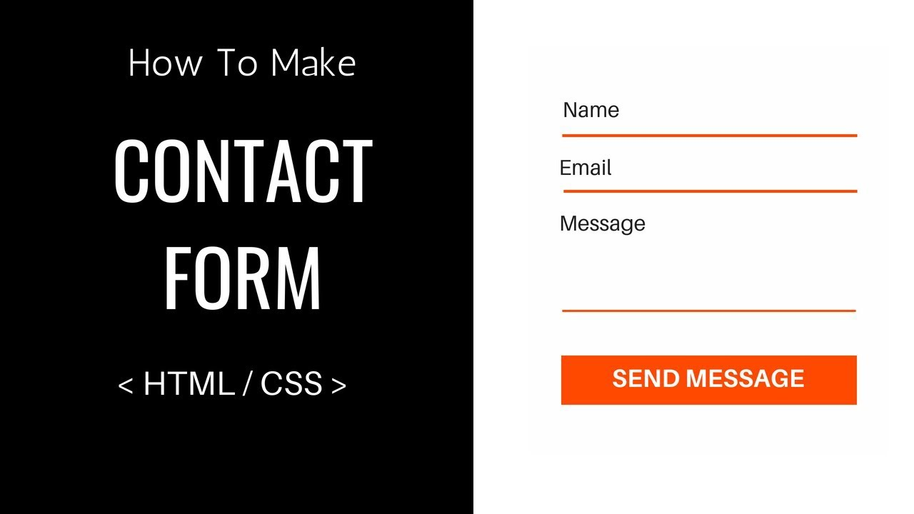 How To Make A Contact Form Using Html And Css Easy Tutorials Youtube