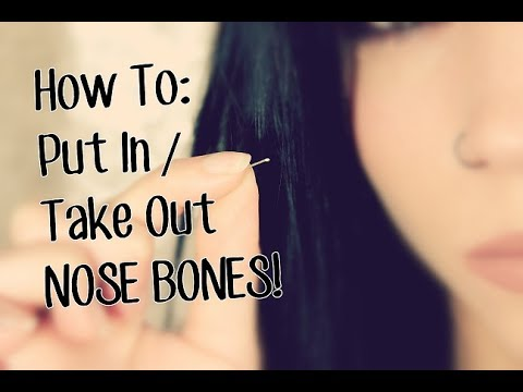 How To Put In Take Out Nose Bone Jewelry Youtube