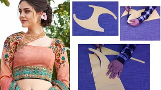 इस खूबसूरत ब्लाउज को कितने ओर कैसे आसान तरीके से बनाया है / Beautiful Blouse Cutting and Stitching