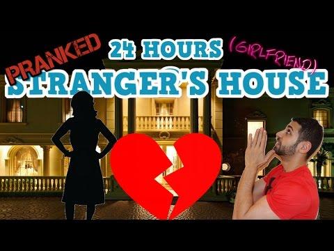 (BREAK UP) 24 HOUR OVERNIGHT CHALLENGE PRANK AT A STRANGER'S HOUSE | 24 HOUR CHALLENGE PRANK
