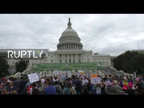 LIVE: Protesters march in DC to demand Trump reveals tax records